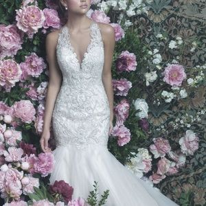 Allure Bridal fit and flare gown C402